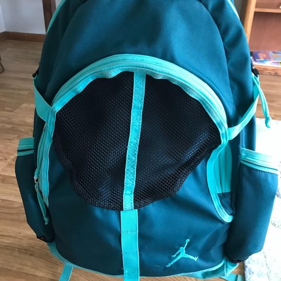 f2641817bed8d2 Nike Air Jordan Turquoise Adult Backpack. M 5b4cbd714773682bc897d4b9